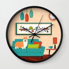A Corgi Makes A House A Home Wall Clock
