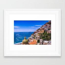 Love Of Positano Italy Framed Art Print