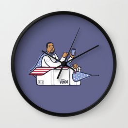 Can Ye Touch The Sky - Purple Wall Clock