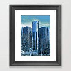 Detroit Renaissance Center (Ren Cen) GM Headquarters Framed Art Print
