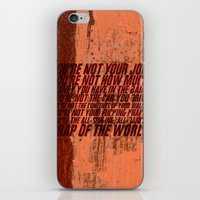 wallet iPhone & iPod Skins featuring Fight Club by elvisbr