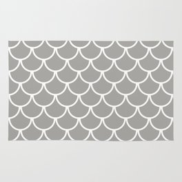 Grey Fish Scales Pattern Rug