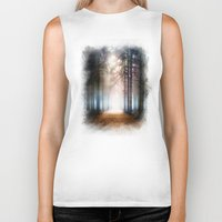 forest Biker Tanks featuring Enchanted Forest by Viviana Gonzalez