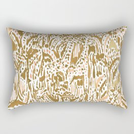GIRAFFE SAFARI Golden Peach Tribal Rectangular Pillow