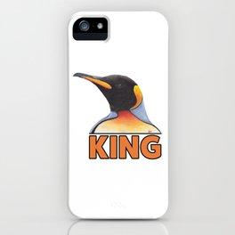 King Penguin Portrait iPhone Case