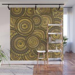 Circular Ethnic  pattern pastel gold Wall Mural
