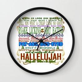 Christmas Vacation Insults Wall Clock