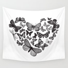 BUTTERFLY LOVE MONO Wall Tapestry