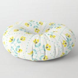 Scandinavian flowers 02 Floor Pillow