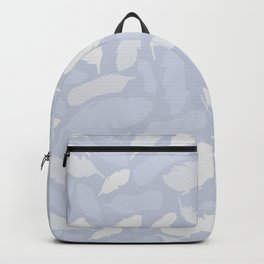 Feather Pattern Light Blue Backpack