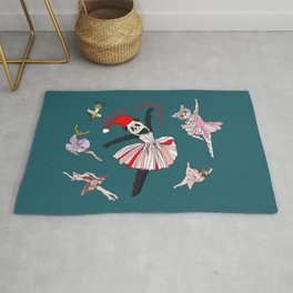 Hipster Holiday Ballerinas Rug