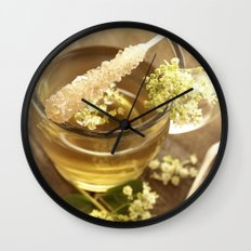Elder Tea Still life for kitchen Wall Clock