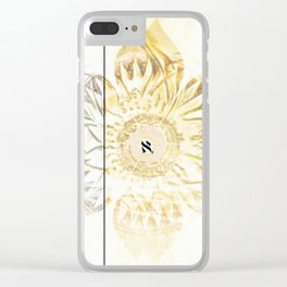 Tricolor Aleph Mandala Clear iPhone Case