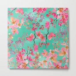 Elegant hand paint watercolor spring floral Metal Print