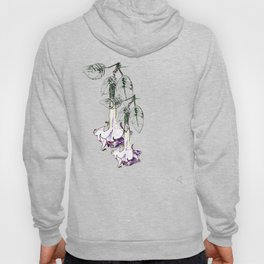 Illustrated Moonflower in Purple and Green Hoody