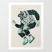 astronaut Art Prints featuring Astronaut by BernardoMajer