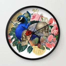 Single Eternal Peacock Wall Clock