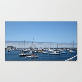 Boats in the harbor Canvas Print