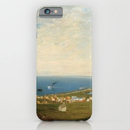 'Coastal Scene and Tidal Ponds' landscape by Gilbert Munger iPhone Case