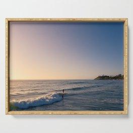 Longboard Surfer Serving Tray