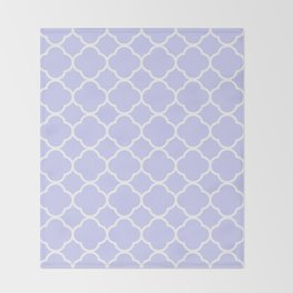 Periwinkle Blue Quatrefoil Throw Blanket