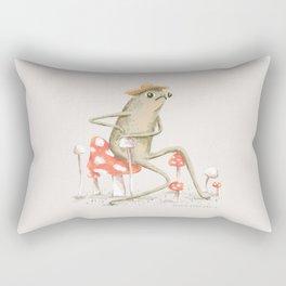 Awkward Toad Rectangular Pillow