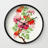 goldfish Wall Clocks featuring goldfish by Manoou