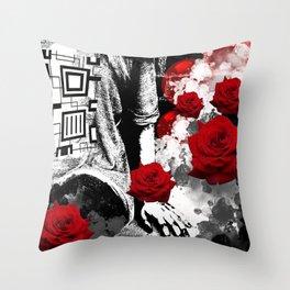 Scarlet Silence Throw Pillow