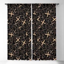 Bitter Chocolate - X-Plosion Decorative Pattern Blackout Curtain
