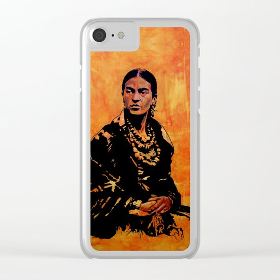 FRIDA KAHLO - the mistress of ARTs - original painting Clear iPhone Case