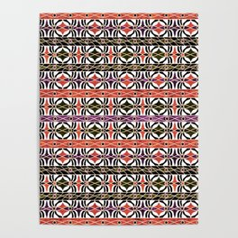 Ethnic striped pattern. Poster