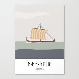 VIKING LONGSHIP -  A BLUETOOTH VIKING WARSHIP Canvas Print