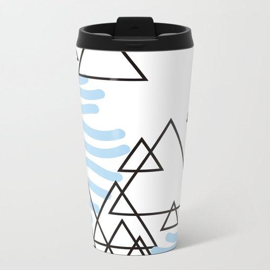 Ocean Mountains Island Metal Travel Mug