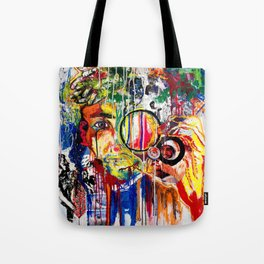 The Man Who Looked Through the Looking Glass and Saw Himself Tote Bag