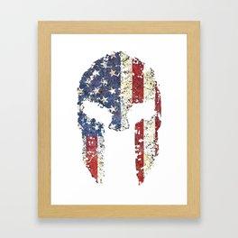 American Spartan Framed Art Print
