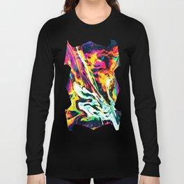 Fluid Abstract 34; Panic Long Sleeve T-shirt
