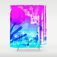 transparent Shower Curtains featuring transparent flags by seb mcnulty