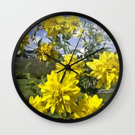 POWER FLOWER Wall Clock