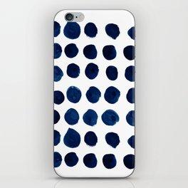 Blue Dots iPhone Skin