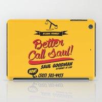 better call saul iPad Cases featuring Better Call Saul by Krikoui
