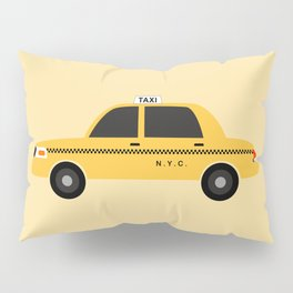New York City, NYC Yellow Taxi Cab 2 Pillow Sham