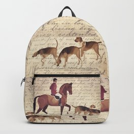 English country foxhunt print Backpack