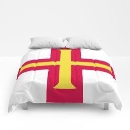 Guernsey flag emblem Comforters