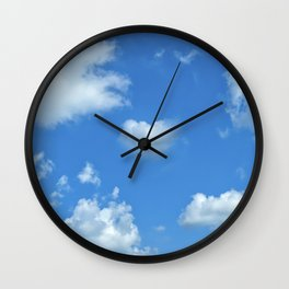 Blue sky and clouds Wall Clock