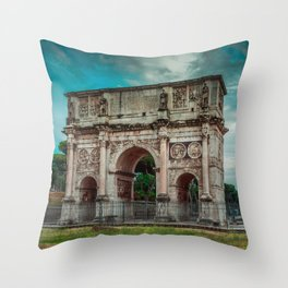 Arch of Constantine - Rome Throw Pillow