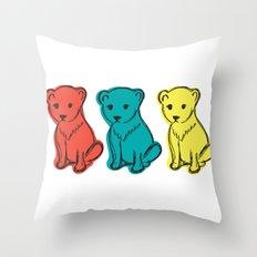 Little Lion Men Throw Pillow