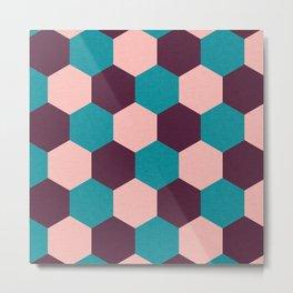 Honeycomb Pattern Metal Print