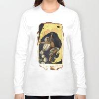 tarot Long Sleeve T-shirts featuring moon tarot by jessica krcmarik