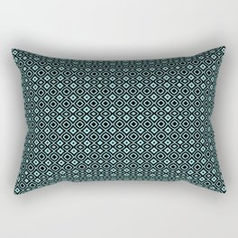 Celosia Aqua Black Rectangular Pillow