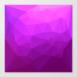 Byzantine Purple Abstract Low Polygon Background Canvas Print